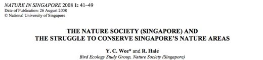 Nature Society: The struggle for Singapore's nature areas