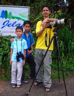 Dr. Redzlan Abdul Rahman and his birding paradise