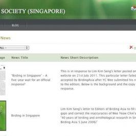 """""""Birding in Singapore"""" – The strange behaviour of a birdwatcher…"""