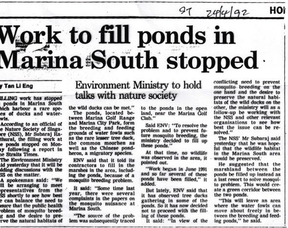 Straits Times April 24th 1992