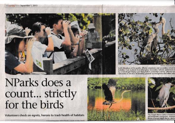 Straits Times 1st September 2013