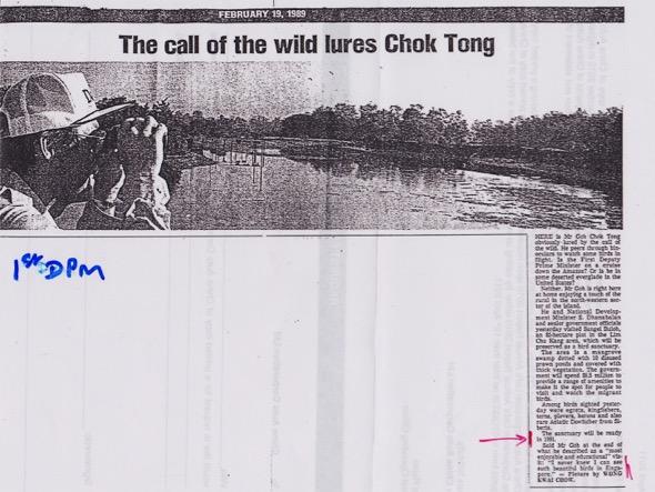 Straits Times, 19th February 1989