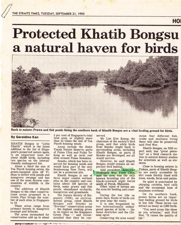 Straits Times, 21st September 1993