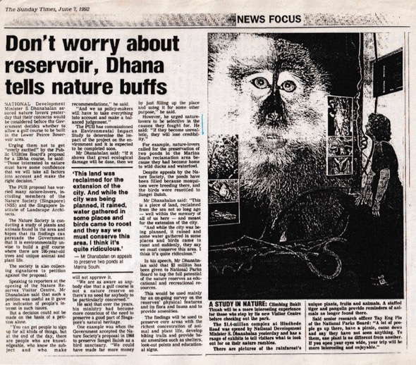 Straits Times June 7th 1992