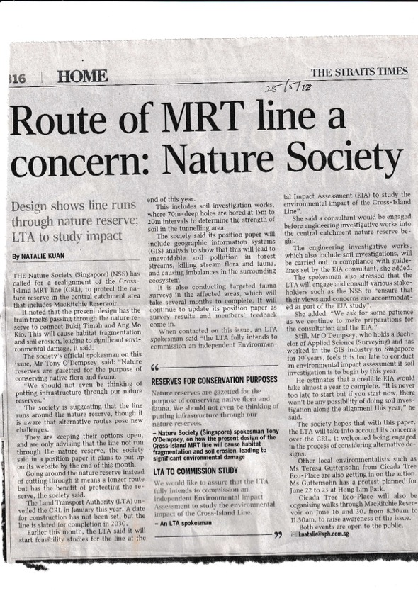 Straits Times May 16th 2013